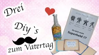 [ DIY ] 3 VATERTAGS GESCHENK IDEEN ⎢VATERTAG ⎢SIMPLE DIY ⎢TUTORIAL