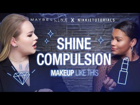 NikkieTutorials + Kamie Crawford Test-Drive Our NEW Shine Compulsion Lipsticks