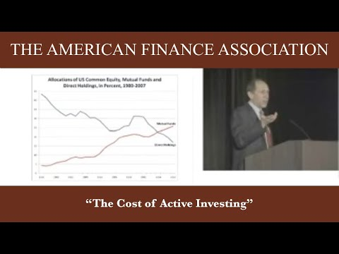 The Cost of Active Investing