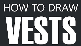 How To Draw A Vest - Leather Vest Drawing (Leather Vests)