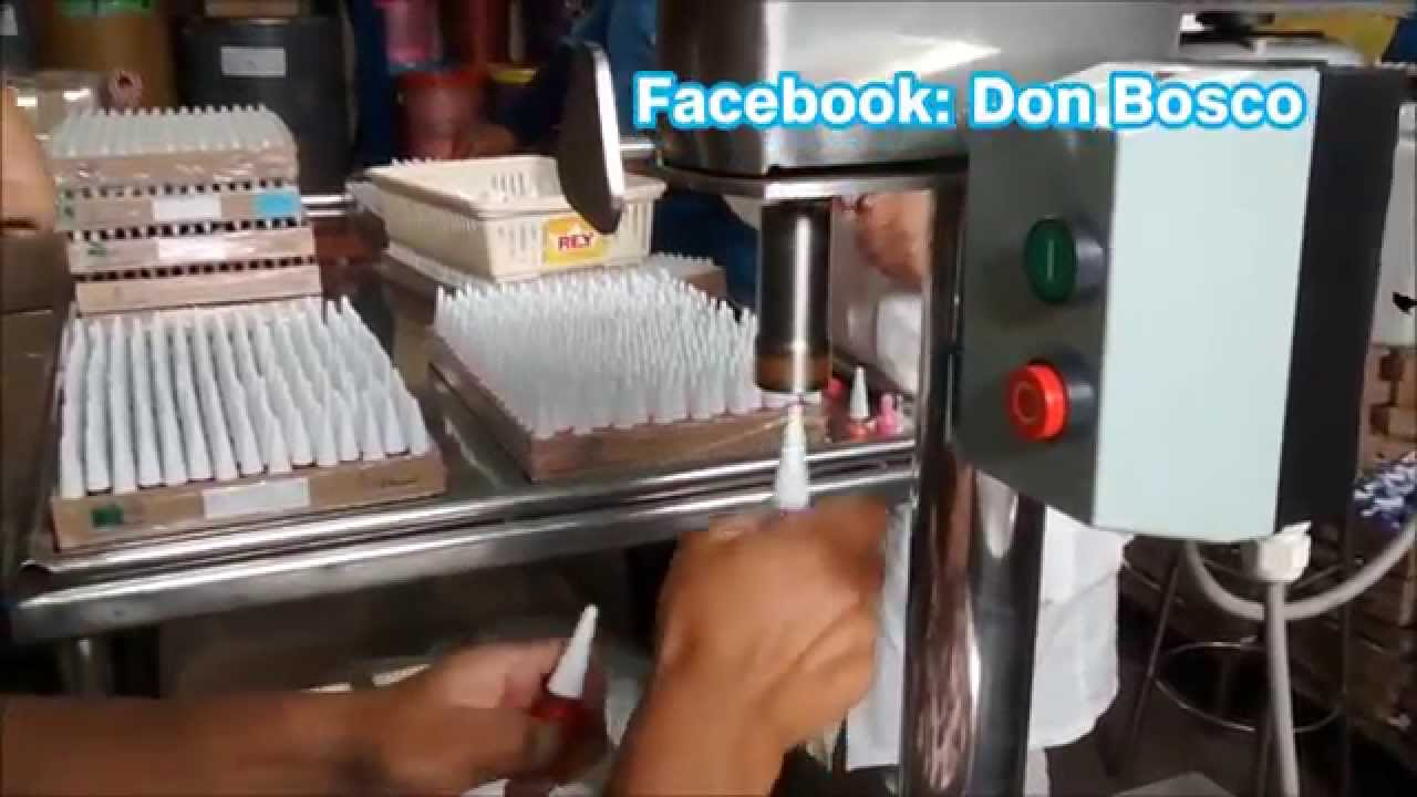 Roscadora manual para esmaltes - YouTube
