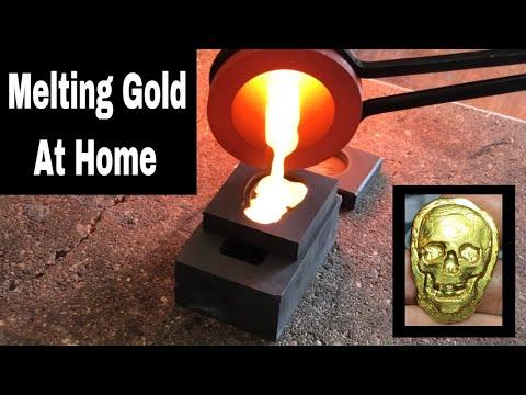Melting Gold - Smelting Gold At Home