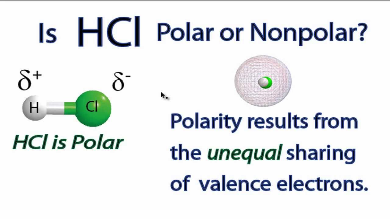 Is HCl Polar or Nonpolar? - YouTube