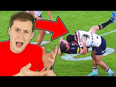 NFL FAN REACTS TO RUGBY HITS (insane...)