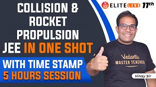 Collision And Rocket Propulsion JEE One Shot With Tricks 🔥: [5 Hrs Session🕒]| JEE Physics | JEE 2023