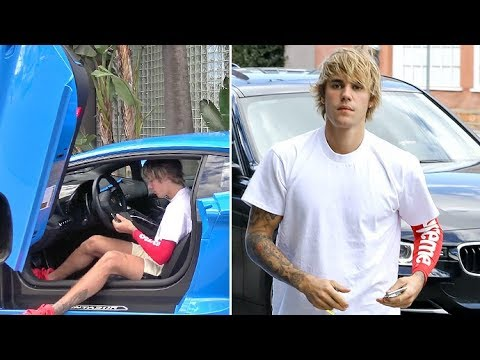 Justin Bieber Asked About Supporting Selena After Rehab While Hitting The Gym In His New Lambo