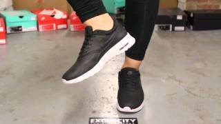 """Nike Air Max Thea Premium """"Black & Anthracite"""" On-Feet Video at Exclucity"""