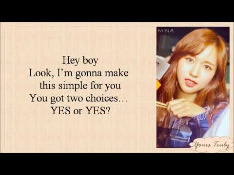 TWICE (트와이스) - YES or YES (Easy Lyrics)
