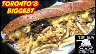 Toronto's BIGGEST Burger Challenge! 10,000+ Calories - Man vs Food - Undefeated 2019