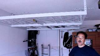 Organized Garage Overhead Storage Rack Customer Testimonial
