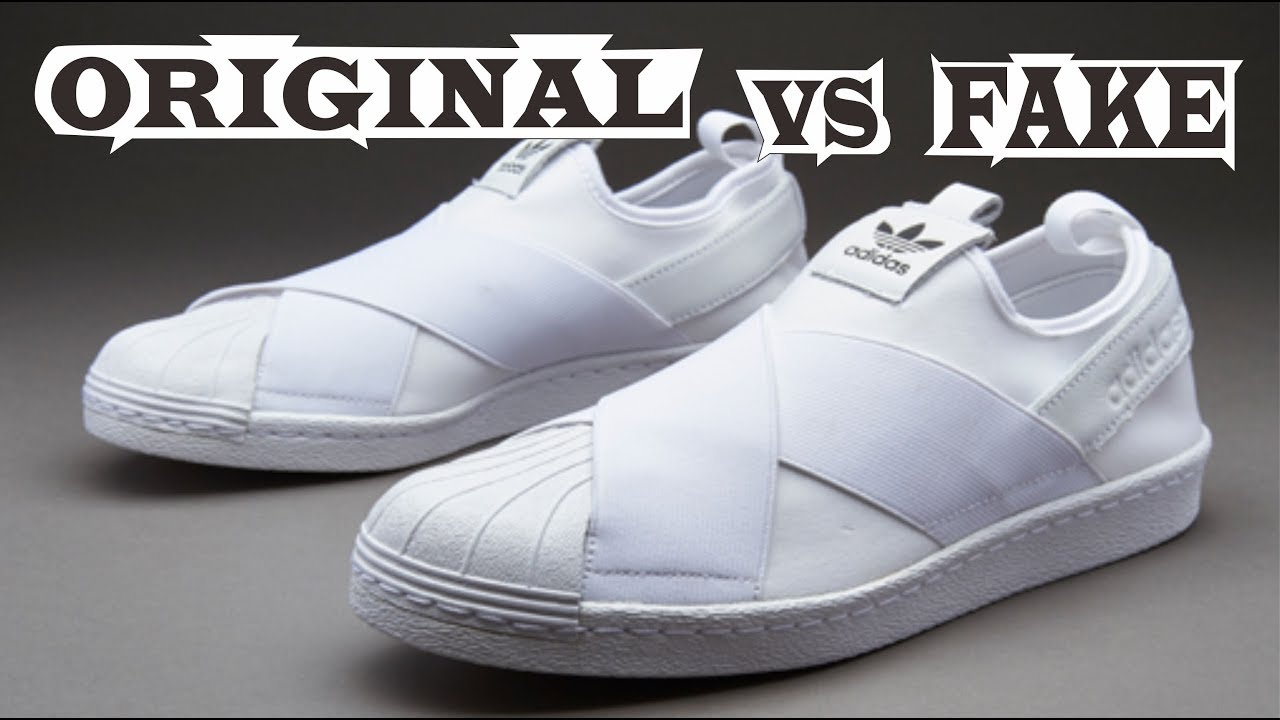 Adidas Superstar Slip-on Original   Fake - YouTube 35bbbdaddf810