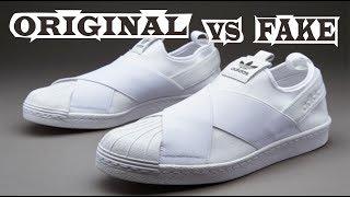 Adidas Superstar Slip-on Original & Fake