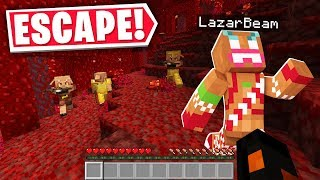 Escape The NEW NETHER Challenge Ft. Lazarbeam