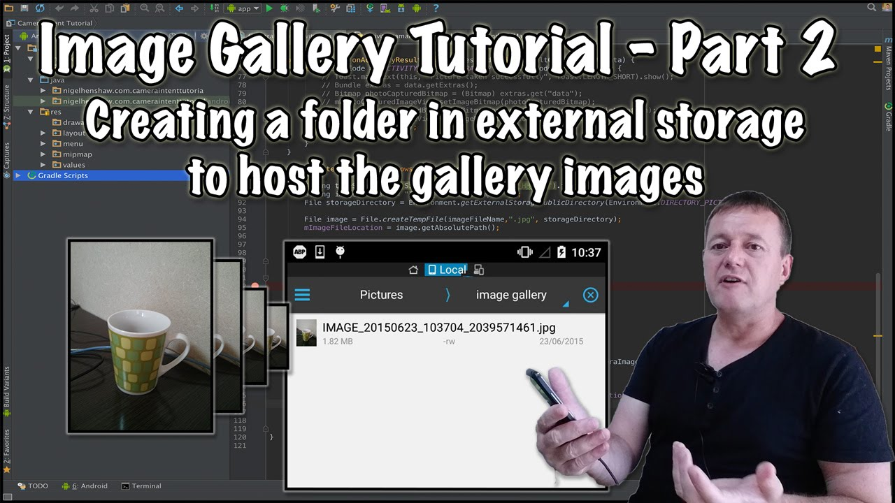 Create image gallery view in android application example tutorial.