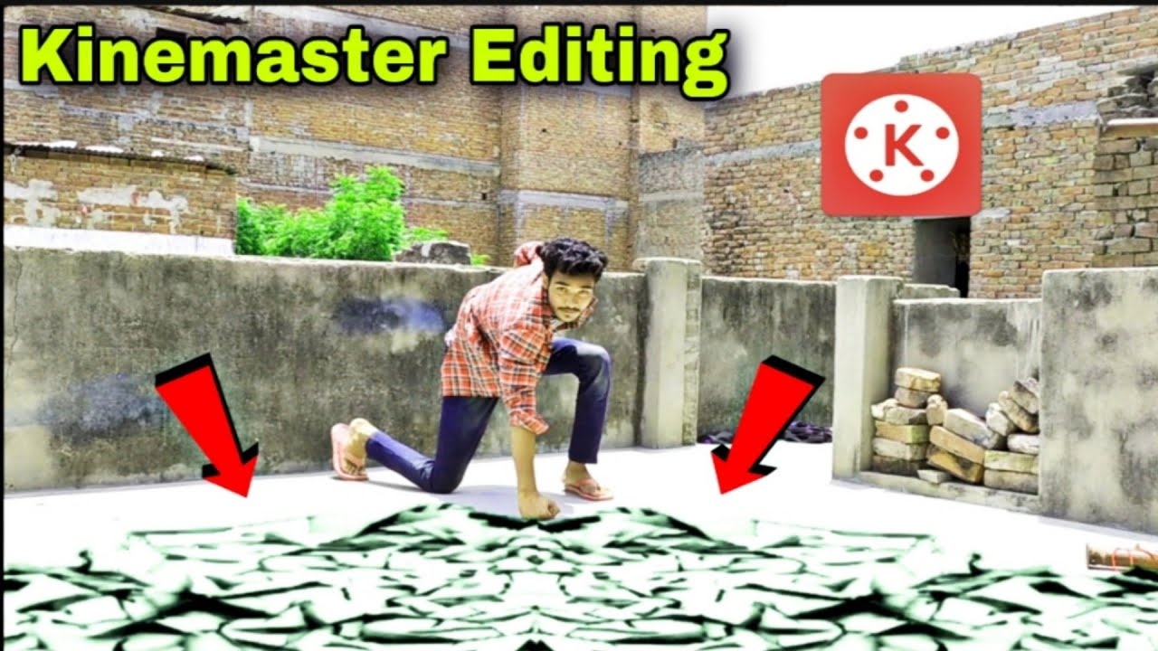 Kinemaster Video | Ground Crack Magic Video Editing Tutorial | Video Editing Apps