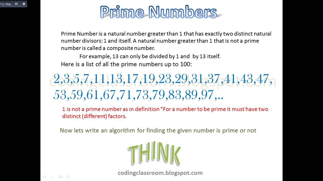Prime numbers algorithm youtube prime numbers algorithm nvjuhfo Gallery