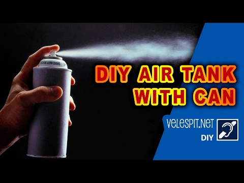 DIY Projects : Spray bottle of compressed air tank | Inflate the tire, chain cleaning, Use Workshop