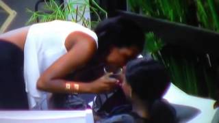 Nhlanla and Mira kiss