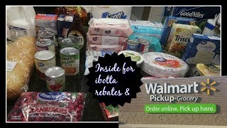 $150 Walmart Grocery Haul and the meal plan | A little pickup + ibotta rebates inside!