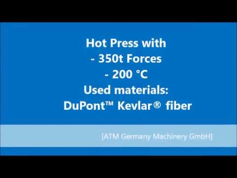 Hydraulic Presse for production of Military combat helmets and tactical vests