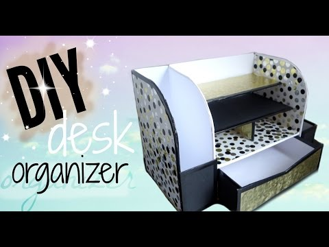 DIY CARDBOARD DESK ORGANIZER (AFFORDABLE)