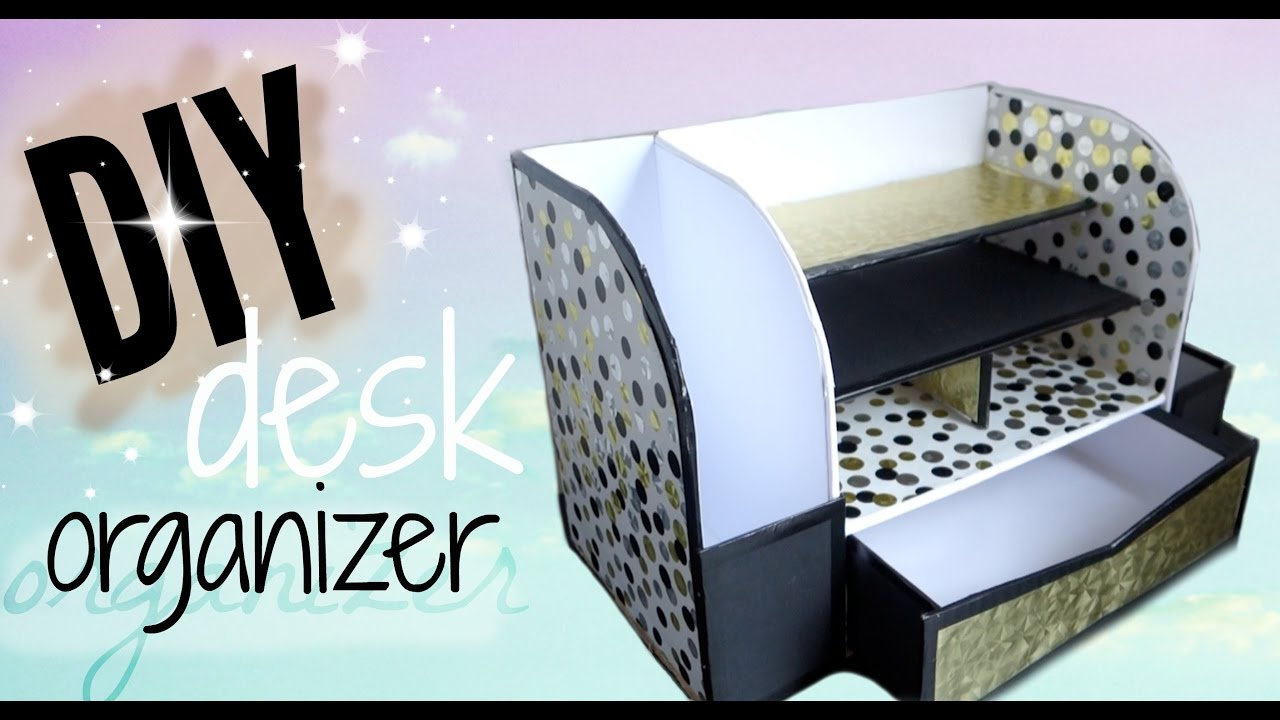 Diy Desk Organizer Diy Cardboard Desk Organizer Affordable Youtube