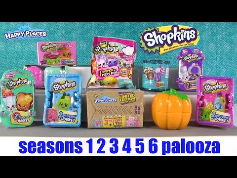 Shopkins Palooza Season 6 5 4 3 2 1 Limited Edition Opening Fun | PSToyReviews