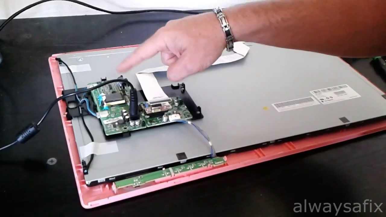 Screen backlight problem LG Flatron W2230S not capacitors