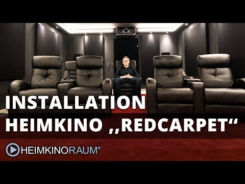 Heimkino ''RED CARPET'' – made by HEIMKINORAUM Stuttgart