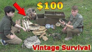 Our $100 Flee Market Vintage Survival Gear challenge! | VintageAdventures #1