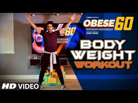 Obese 60 BODY WEIGHT WORKOUT | OBESE 60 Home Workout Program | Guru Mann | Health & Fitness
