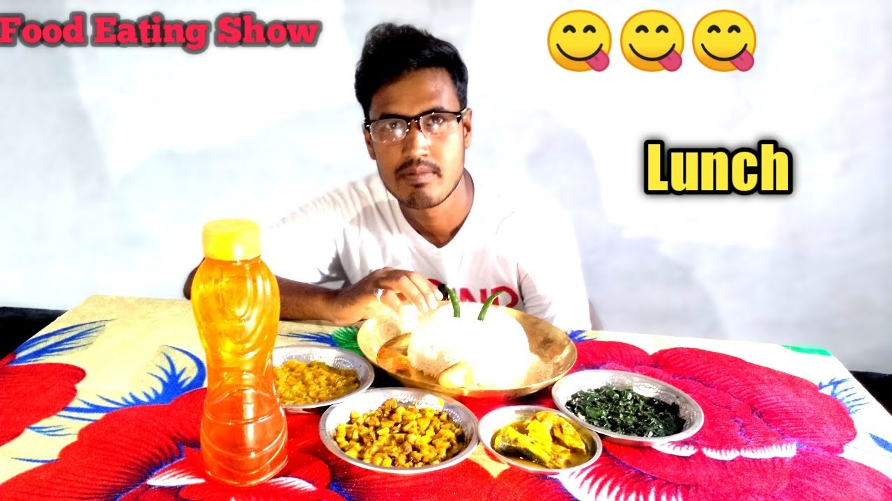 Record Eating Show Rice With Fish Curry, Pumpkin Food Eating Show ||