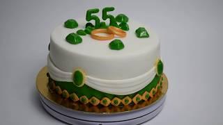 Торт на годовщину свадьбы 55 лет