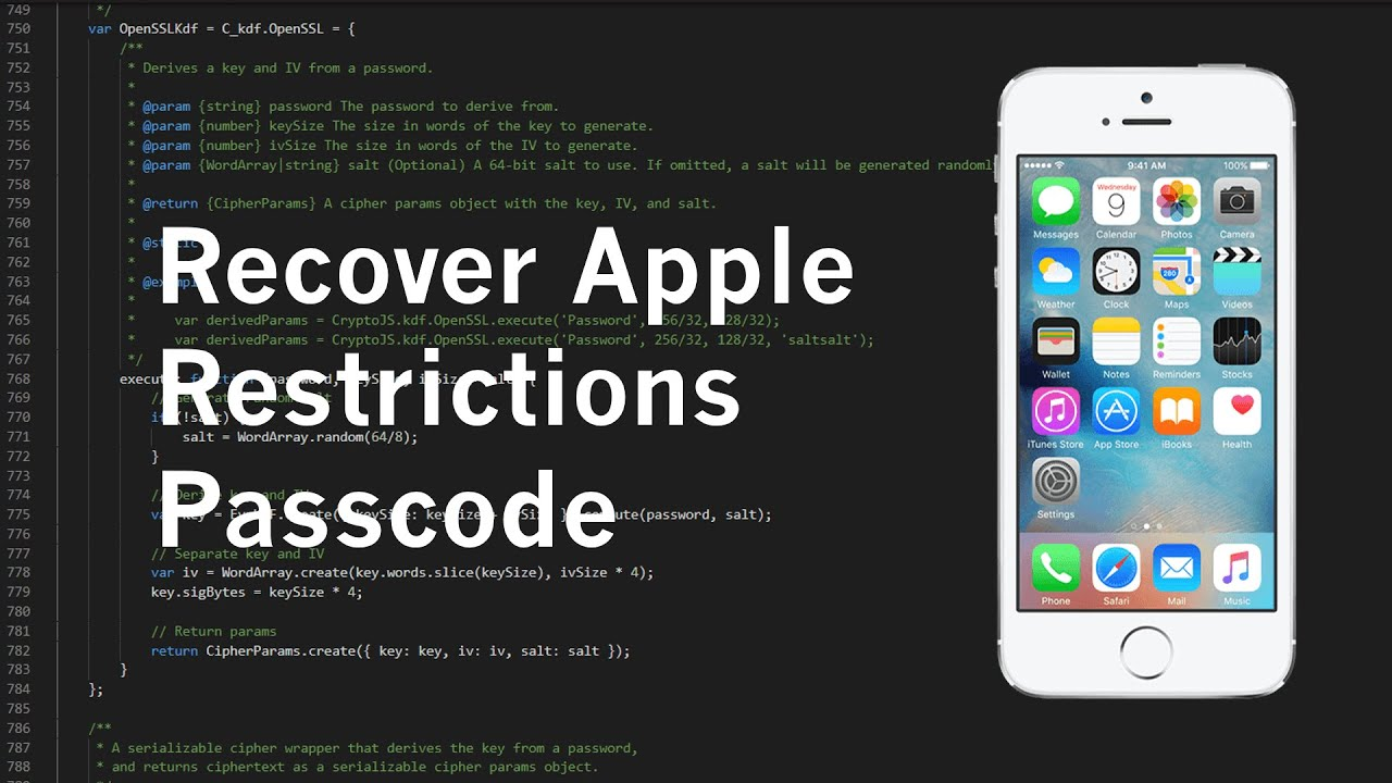 How to hack iPhone/iPad restrictions passcode [all iOS]