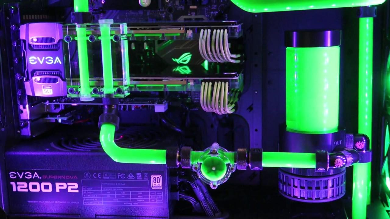 Custom Loop EKWB - green