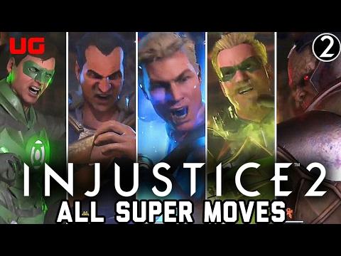 Injustice 2 All 28 Character Super Moves So Far (Darkseid, Green Lantern, Green Arrow)