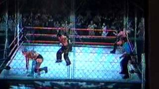 Smackdown vs Raw 2009 - Hardy boy vs Cm punk y Festus part 1/2