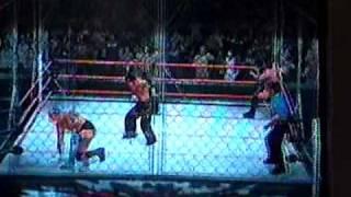Smackdown vs Raw 2009 - Hardy boy vs Cm punk y Festus part 1/2