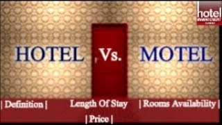 Hotel vs Motel | Difference between Hotel and Motel in English |