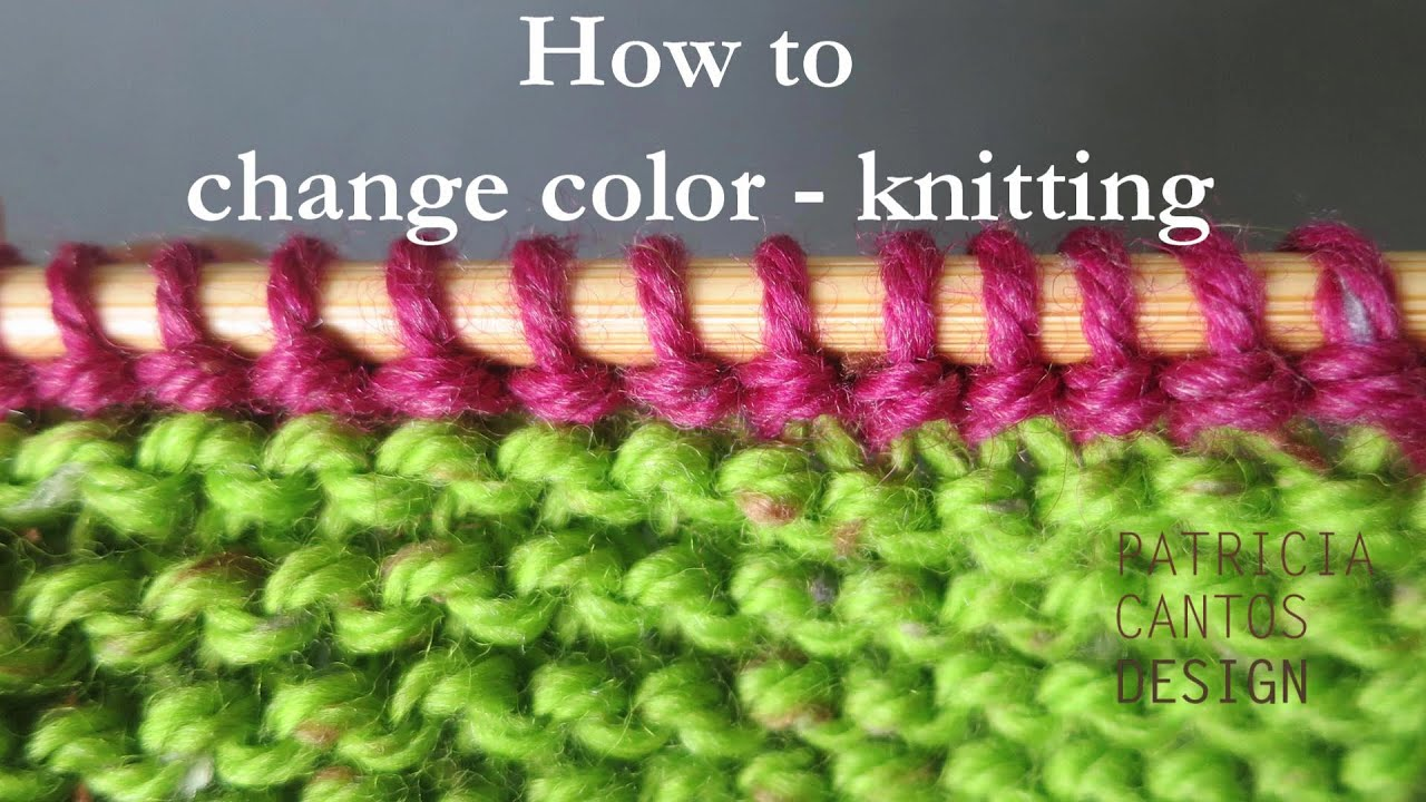 Knitting Adding Stitches Mid Row : How to change color knitting FunnyDog.TV