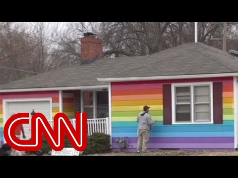 Rainbow house gets revenge on neighbors