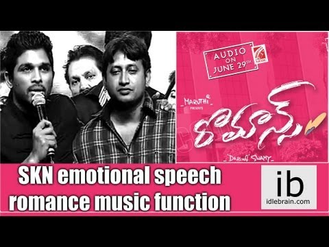 Romance producer SKN mega emotional speech - idlebrain.com ...
