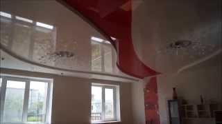 Супер потолок в Гостиной Дизайнерский Трехуровневый Немецкий Натяжной потолок Renolit(, 2016-04-19T22:43:06.000Z)