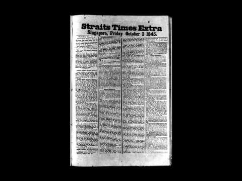 Covers of The Straits Times over 170 years Part 1