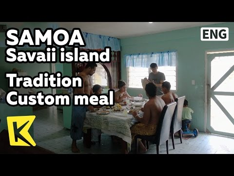 【K】Samoa Travel-Savaii island[사모아 여행-사바이섬]사모아인의 전통 식사 풍습/Tradition/Custom/Meal/Taro
