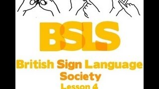 British Sign Language Society Lesson 4 - Family