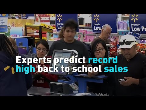 Experts predict record high back to school sales