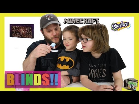 Opening Surprise Blinds (Minion Vlog) Shopkins, Minecraft, Science Fiction - Day 1006 | ActOutGames