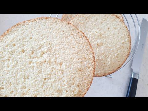 МОЙ ЛЮБИМЫЙ ВАНИЛЬНЫЙ БИСКВИТ❤ БИСКВИТ на ГОРЯЧЕМ МОЛОКЕ  рецепт❤ HOT Milk SPONGE CAKE