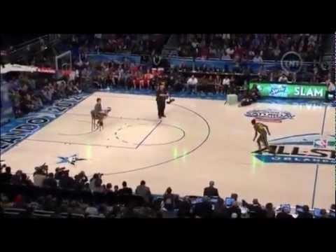 Jeremy Evans 2 ball dunk and toss to himself dunks slam dunk contest 2012 winner!